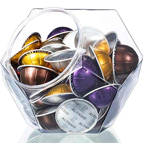 - Large-Capacity 12-Sided Polygon Elegant Coffee Pods Holder for Nespresso Vertuoline Capsule