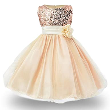 a419ed394c1e Amazon.com  LJW 2-6 Years Girls Dresses Wedding Party Princess Dresse for  Kids Girls Clothes  Clothing