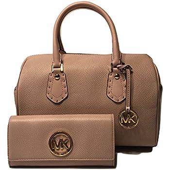 e056b83ae5 ... reduced michael michael kors aria md satchel bundled with michael kors  fulton flap wallet blossom 0bbbb