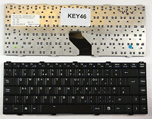 Keyboards4Laptops UK Layout Replacement Laptop Keyboard Black for Asus KBC-01-UK, Asus MP-05696GB-6984, Asus MP-05696GB-C58, Asus PK1301Q0270, Asus PK1301Q0370 ()