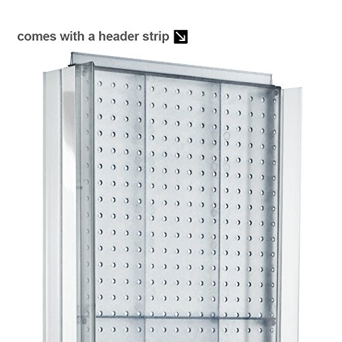New Black 2 Sided Pegboard Floor Display Stand with Revolving Base 16''w X 60'' H by Pegboard Display (Image #4)