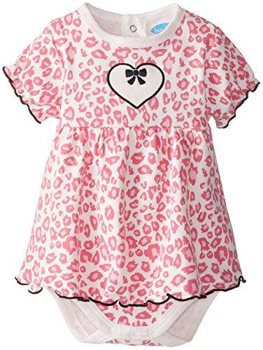 [BON BEBE Baby-Girls Newborn Animal Print and Hearts Sundress, Multi, 3-6 Months] (Baby Animal Dresses)