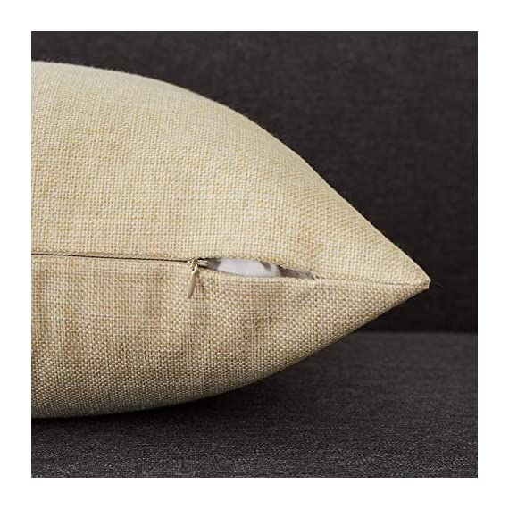 Top Finel Decorative Outdoor Throw Pillow Covers Set - Square Cotton Linen Cushion Covers 18 X 18 Inch for Sofa Couch, Set of 6, Series - SUPER PLUSH MATERIAL & SIZE: Made of high quality cotton linen, comfortable to touch and lay on. 18 X 18 Inch per pack, included 6 packs per set, NO PILLOW INSERTS. WORKMANSHIP: Delicate hidden zipper closure was designed to meet an elegant look. Tight zigzag over-lock stitches to avoid fraying and ripping. NO PECULIAR SMELL: Because of using environmental and high quality cotton linen fabric,our throw pillow cases are the perfect choice for those suffering from asthma, allergen, and other respiratory issues. - patio, outdoor-throw-pillows, outdoor-decor - 51fkY38Yb3L. SS570  -