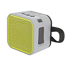 Skullcandy Barricade Mini Bluetooth Wireless Portable Speaker, Gray/Hot Lime