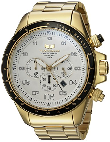 Vestal 'ZR3' Quartz Stainless Steel Casual Watch, Color:Gold-Toned (Model: ZR3038)