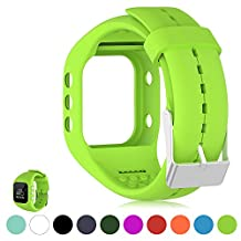 For Polar A300 Smart Watch Fitness Tracker Replacement Watchband - Feskio Soft Silicone Rubber Watch Band Wrist Strap Case for Polar A300 Smart Watch (Band Only,No Tracker)
