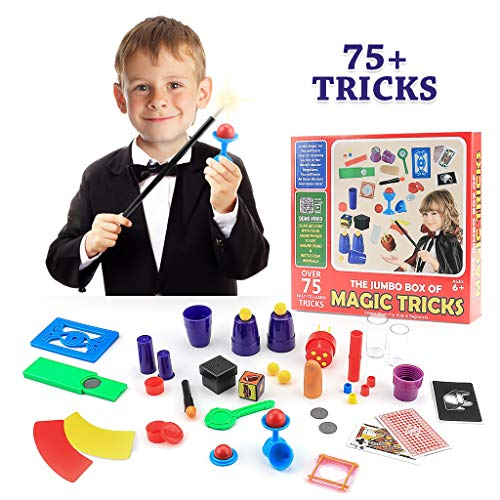 Magic Toys Kit Set with Wand and 75 Magic Tricks for Kids Boys Girls,Best Age 6 7 8 9 Year Old ()