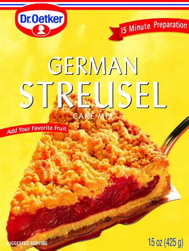 (Dr. Oetker German Streusel Cake Mix, 15-Ounce Boxes (Pack of 8))