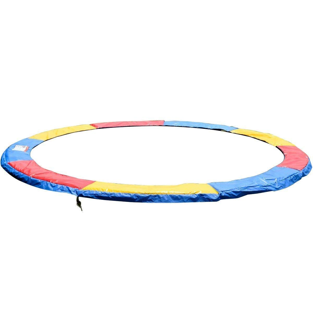 GYMAX Trampoline Pads, 12' Edge Cover Springs Safety Frame Pad Protection Cover Pad Trampoline Accessories (Muticolor)