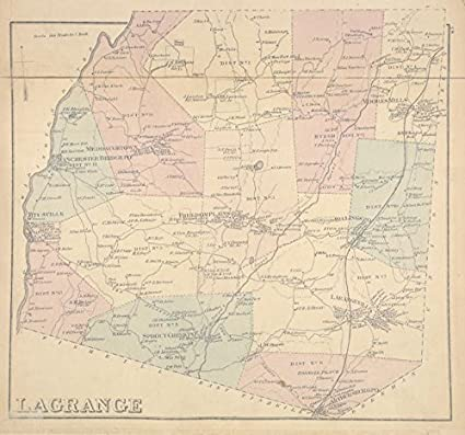 Amazon.com: Historic 1876 Map | Lagrange [Township] | Dutchess ...