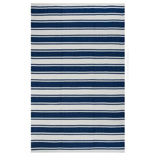 Fab Habitat, Indoor/Outdoor Eco Friendly Rug - Handwoven, Made from Recycled Plastic Bottles - Lucky Blue & White (2x3)