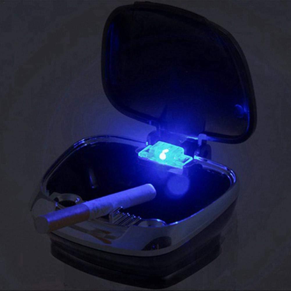 Happt Auto-Aschenbecher Mit LED-Leuchten Auto-Aschenbecher Pers/önlichkeit Innovativer Aschenbecher Autoinnenausstattung