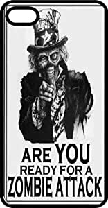 Zombie Attack Campaign Ad Black Rubber Case for Apple iPhone 5 or iPhone 5s