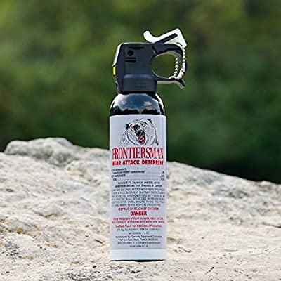 Frontiersman Bear Spray with Chest or Belt Holster– Easy Access, Max Strength – 7.9 oz - Impressive 30-Foot Range