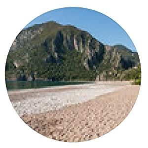 alfombrilla de ratón Playa en Cirali, la costa de Turquía (Turquía) - ronda - 20cm