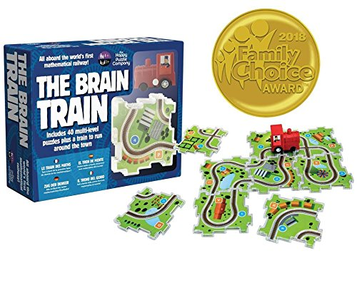 The Brain Train - World's First Mathematical Railway. 2018 Award Winner. Use math, logic, cognitive skills for simple equations & connect train tracks. Correct answers let the train run the track! by Happy Puzzle Company