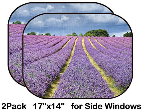 Liili Car Sun Shade for Side Rear Window Blocks UV Ray Sunlight Heat - Protect Baby and Pet - 2 Pack Lavender Field in Banstead Surrey Photo 8370085 (Surrey 2 Light)