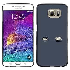 CASEX Cases / Samsung Galaxy S6 SM-G920 / Ctrl Esc - Funny # / Delgado Negro Plástico caso cubierta Shell Armor Funda Case Cover Slim Armor Defender