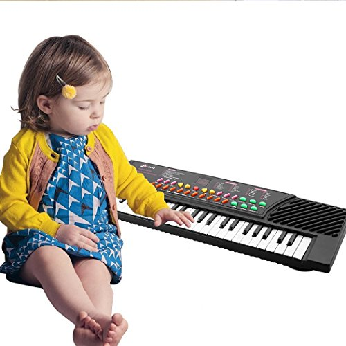 Utheing Electric Piano for Kids, 54 Key Electronic Keyboard Kid Electric Piano Organ with Mic and Adapter