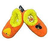 Snoozies Womens Classic Splitz Applique Non Skid Slipper Socks - Buzzin' Bee, Medium