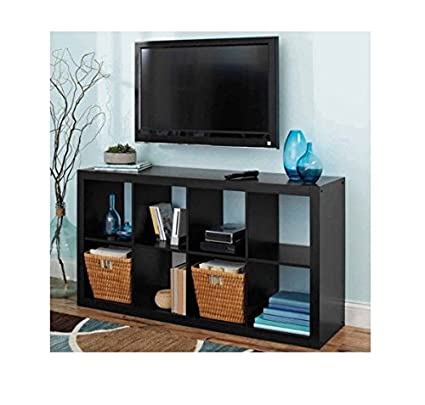 Better Homes And Gardens Solid Black 8 Cube Organizer Creates Multiple Storage  Solutions Horizontal Or