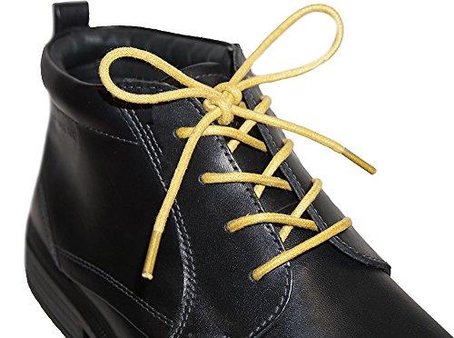 Shoeslulu 20-59 Premium Ronde Canvas Schoenveters Schoenveters Gouden Mosterd