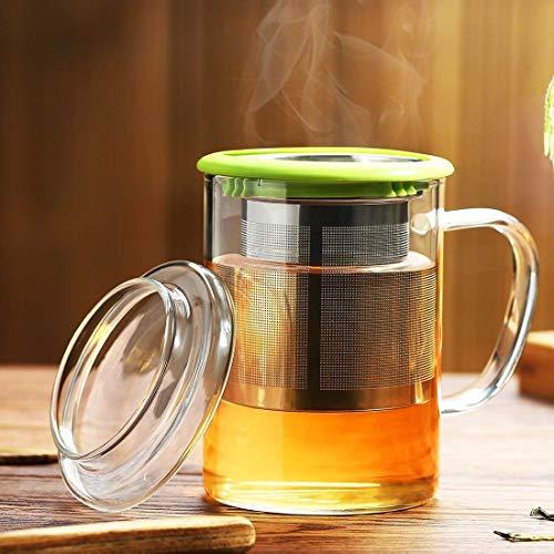 Coffee Green Mug Glass - Tomotime 13.5 oz Borosilicate Glass Tea Cups Coffee Mug Cup (with glass lid) Green