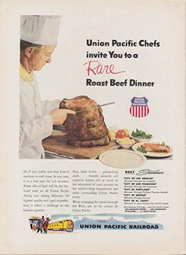 Union Roast (Union Pacific RR Chefs invite You to a Rara Roast Beef Dinner ad 1953)