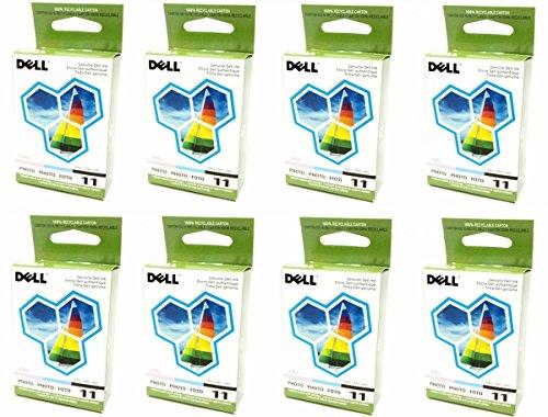 8-LOT Bulk Genuine Dell Series 11 Photo JP455, DX518 Standard Ink Cartridge For Printer Models 948, V505, V505w
