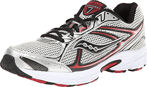 Saucony Men's Cohesion TR7 Trail Running Shoe Silver / Red / Black