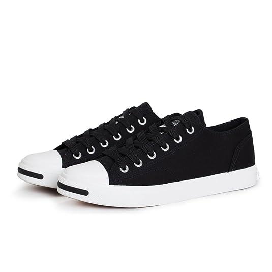 parejas de lona/Zapatos de encaje de corte de bajo blanco/ reír zapatos ocasionales-C Longitud del pie=21.8CM(8.6Inch) KEYVTtJOo8