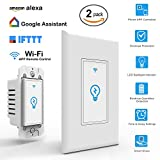 Arvin Light Switch, Compatible with Alexa In Wall Light Switch Mobile Phone APP Remote Alexa Control Sensitive Touch Wireless Light Swtich (Smart Light Switch-2 Packs)