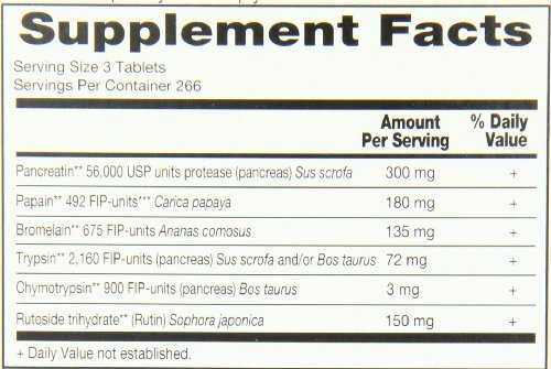 Wobenzym N Enteric Coated Tabs (1600 Tablets) by Marlyn Naturally (Image #2)