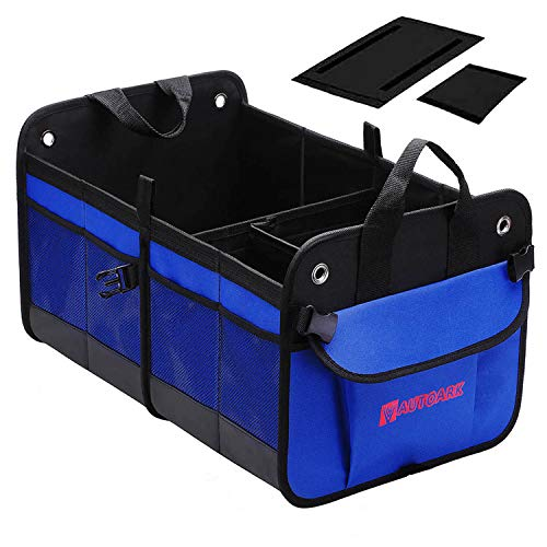 Autoark Multipurpose Car SUV Trunk Organizer,Durable Collapsible Adjustable Compartments Cargo Storage,AK-022
