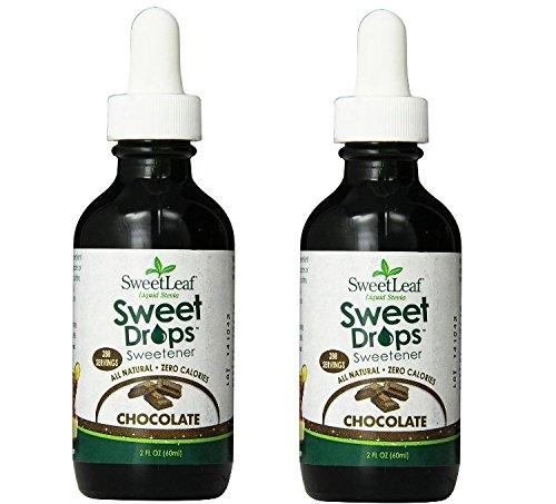 SWEETLEAF STEVIA Liquid Stevia Dark Chocolate 2 oz,2 Pack