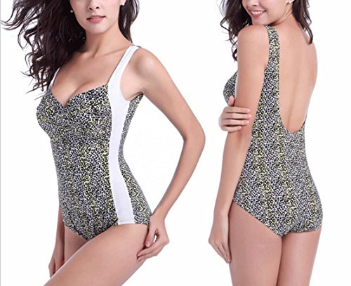 Bikini de moda de una pieza de traje de baño Lucha color de onda de punto de impresión de gran tamaño Spa traje de baño de playa Multi - color