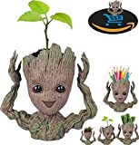 Prime Sale Day Deals Week Amazon 2018-Creative Groot Planter Pot Guardians of The Galaxy Flowerpot Baby Groot Action Figures Cute Model Toy Pen Pot Pencil Holder Best Gifts For Kids (Hands Up Groot)