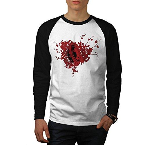 Wellcoda Loudspeaker Bass Music Men XXL Baseball LS T-Shirt