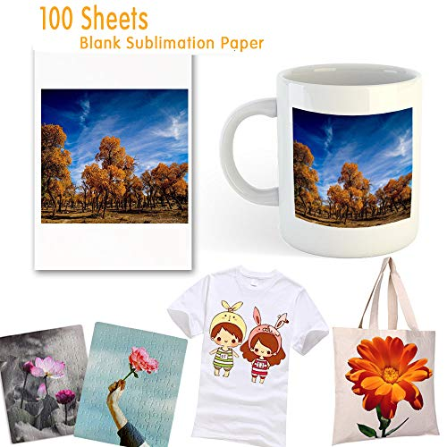 (Sublimation Paper 100 Sheets Sublimation Ink Transfer Paper 8.27