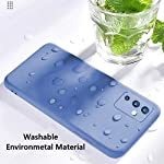 Winble Camera Protection Soft Silicone, TPU Protective Back Cover Case for OnePlus 9/One Plus 9 (Blue)