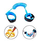 2M Child Anti Lost Belt, QMAY Kids Safety Leash 360° Breathable Wrist Link, Child Safety Leash Safety Wristband for Toddlers, Kids, Safety Harness Straps (Blue)