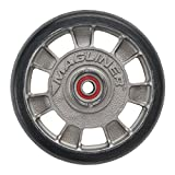 Magline 10815 8'' Diameter Mold On Rubber Wheel with Red Sealed Semi Precision Ball Bearings