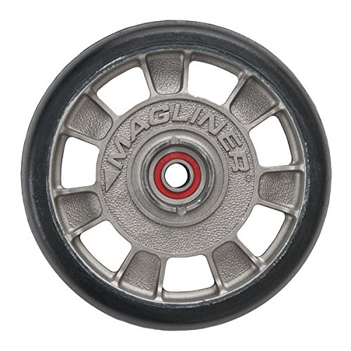 Magline 10815 8'' Diameter Mold On Rubber Wheel with Red Sealed Semi Precision Ball Bearings by Magliner