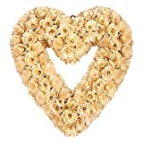 Sometimes unexpected gifts can really brighten up somebody's day when dark skies cloud it over. Pick yourself up this touching, heart-shaped floral gold wreath for a special someone, family member, colleague or friend to help remind them that...