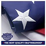 VSVO American Flag 4×6 ft -Embroidered Stars Sewn Stripes Brass Grommets U.S. Flags-Long Lasting Nylon Built for Outdoor Use. Review