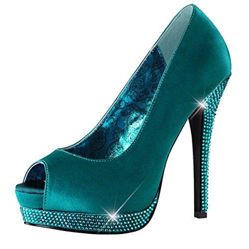Heels-Perfect - Zapatos de vestir de material sintético para mujer turquesa - Türkis (tuerkis)