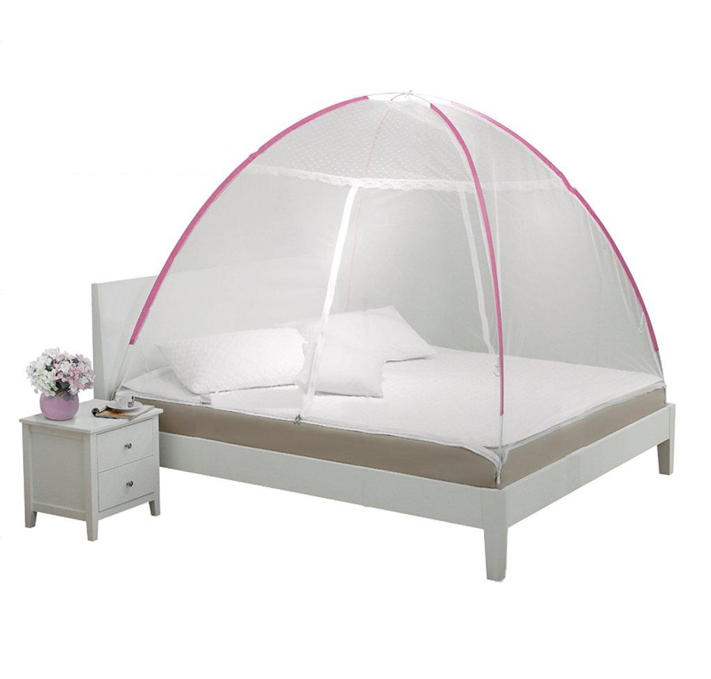 WLHW Moskitonetze Moskitonetze Free Installation Yurts 1,8 m Bett Doppelboden 1,5 Meter Unterstützung Reißverschluss Haushalt 1,2 m Studentenwohnheim