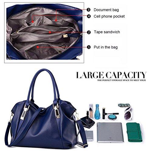 Messaggero Cachi donna borse Grande Del campeggio Honeymall viaggio capienza pelle Tote a in sintetica ufficio Blu blu borse per tracolla 1q61Zwf