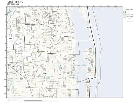 Lake Park Florida Map.Amazon Com Zip Code Wall Map Of Lake Park Fl Zip Code Map