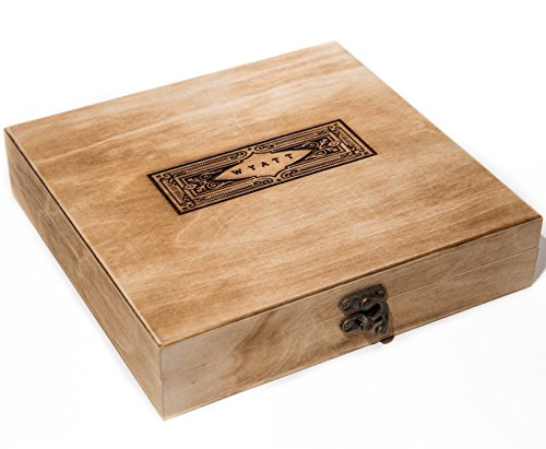 Engraved Cigar Humidor - Swanky Badger Personalized Cigar Box (Vintage)